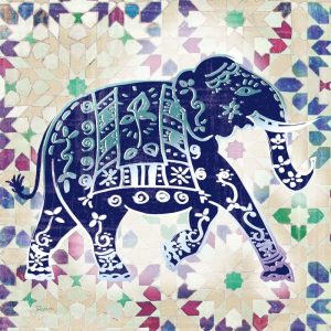 Painted Elephant I