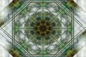 Green Grey Kaleidoscope I