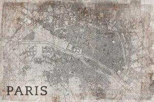 Map Paris White