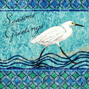 Snowy Egret Seasons Greeting I