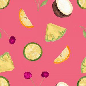 Cherries Pattern on Pink