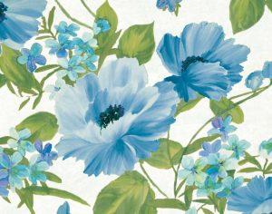 Summer Poppies Blue Crop
