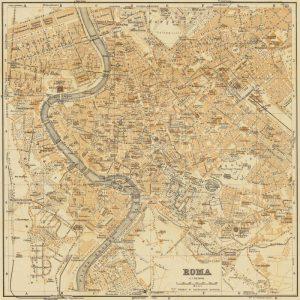 Mapa di Roma 1898