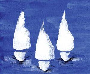 Sailboats at Night II