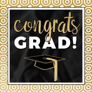 Congrats Grad! In Gold