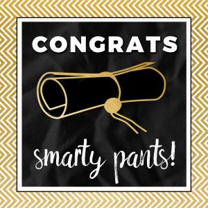 Smarty Pants in Gold