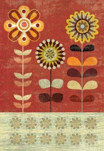 Sage and Orange Floral II