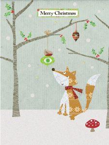 Woodland Fox and Robin