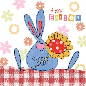 Easter Bunny and Flower