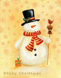 Snowman and Broom