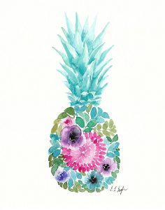 Floral Pineapple IV
