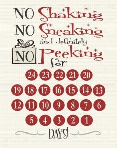 No Peeking Countdown