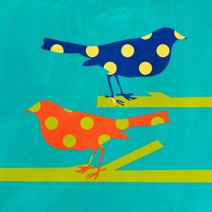 Navy and Orange Birds