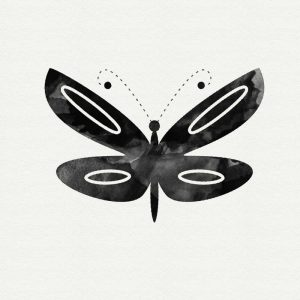 Black and White Butterfly I