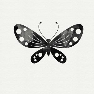 Black and White Butterfly III