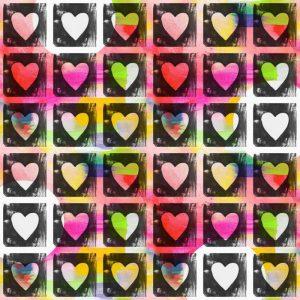 Groovy Art Hearts