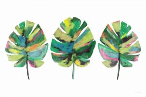 Three Tropical Leaves