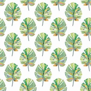 Tropical Leaves – White