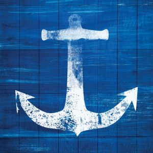 Blue and White Anchor