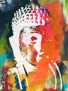 Painted Buddha V