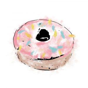 Pink Sprinkle Donut