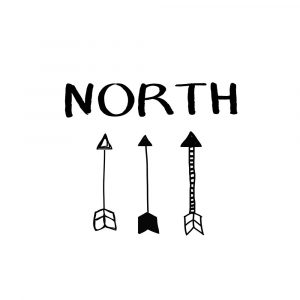 North with Arrows