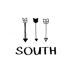 South with Arrows