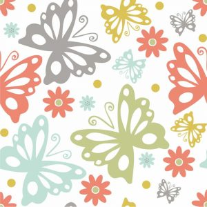 Butterflies and Blooms Tranquil II