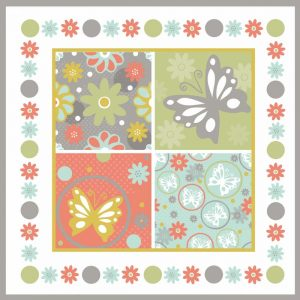 Butterflies and Blooms Tranquil X
