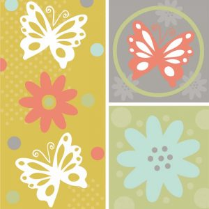 Butterflies and Blooms Tranquil XI