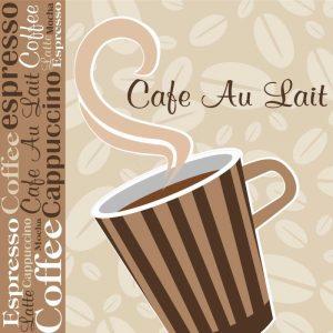 Cafe Au Lait Cocoa Latte IX