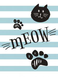 Geometric Cat Meow