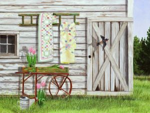 Garden Shed and Swallow