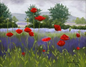 Poppies and Lavender
