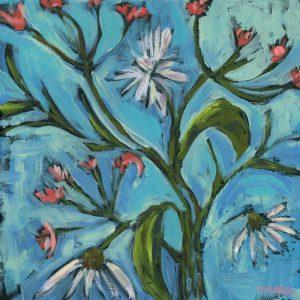 Blue Daisy Pattern