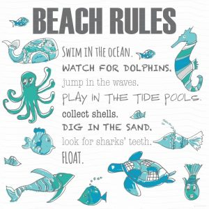Beach Rules Fish