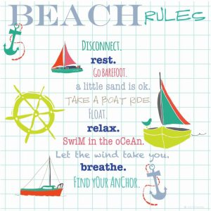 Beach Rules Anchors