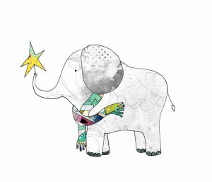 Elephant in a Scarf