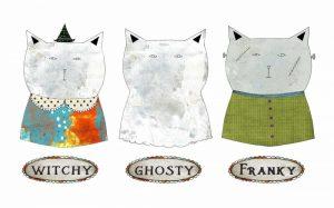3 Halloween Cats