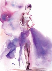 Purple Ballerina I