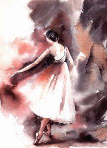 Maroon Ballerina II
