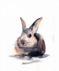 Portrait of a Rabbit II
