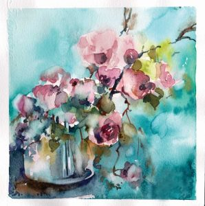 Pink and Blue Still Life