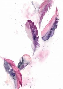 Purple Feathers II