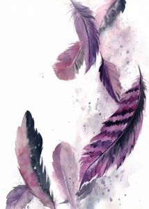 Purple Feathers III