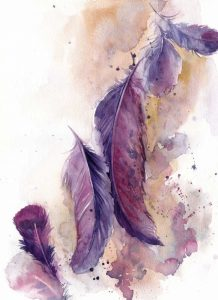 Purple Feathers VI