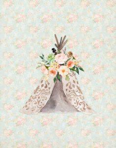 TeePee on Floral