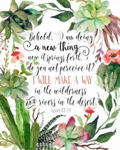 Isaiah 43-19 Floral