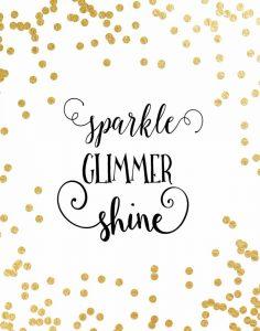 Sparkle, Glimmer, Shine