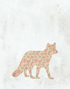 Shabby Chic Fox